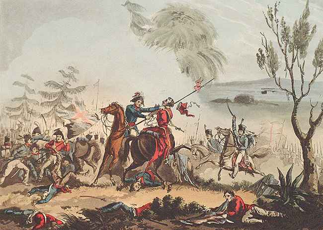 Marshall Beresford Anglo-Spanish-Portuguese Army won the hard-fought Battle of Albuera, east of Badajoz, in Spain