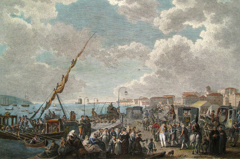 The Portuguese Royal Family departed for Brazil after the invasion of Portugal by the French