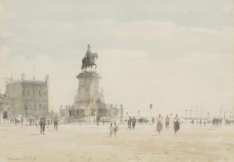 The painter Edward Seago visited Portugal