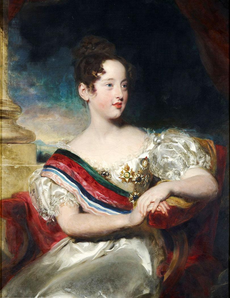 Future Queen D. Maria II (1834) went to England