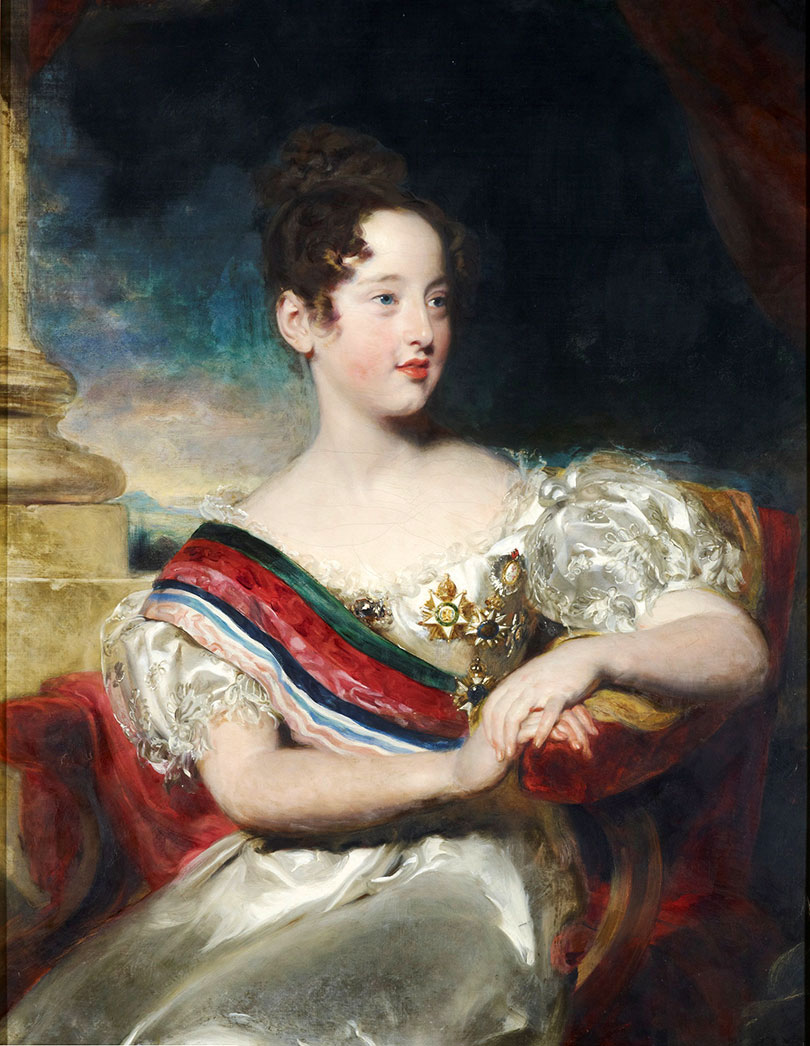 Future Queen D. Maria II (1834) went to England