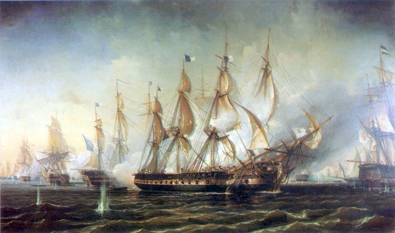 A naval battle off Cape St. Vincent in the Algarve against the Spanish and French fleets