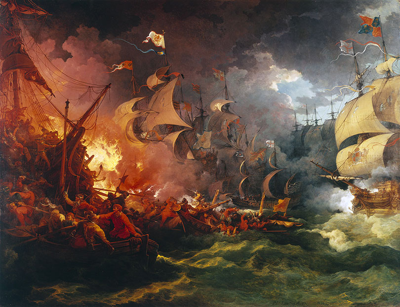 The Great Armada to invade England sailed from the Tagus, commanded by the Marquis of Medina Sidonia