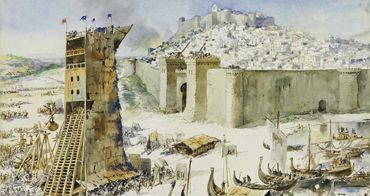 English Crusaders persuaded to help king D. Afonso Henriques in the conquest of Lisbon
